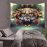 DTGBY&ODQ 3D Serie de tigres salvajes Patrón Tapiz de poliéster Colgante de pared...