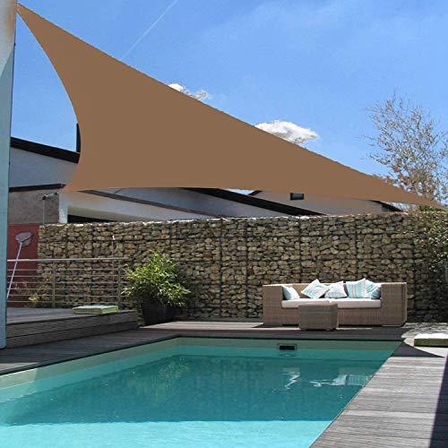XRDSHY Triangular Toldo Vela Protección UV Impermeable Vela De Sombra para Jardín Terraza Camping Jardín,Brown-2X2X2m