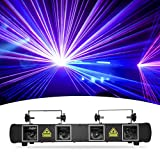 DJ Lights, BSYUN 3rd Version 4 Lens RGBY Sound Activated DJ Led Projector Party Lights Compatible with DMX512 Controller for Birthday Disco Dance Events Show