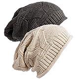 Senker Womens Slouchy Beanie Winter Knit Soft Hat for Women and Men