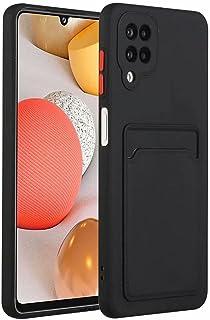 Molg Hoesje voor Samsung Galaxy A12 5G [Screen Protector] Ultradunne Zachte TPU Siliconen Shock Proof Bumperafdekking Met ...