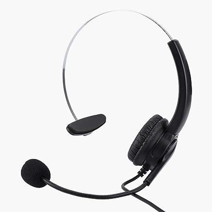 Cuffie per PC Chat, Cuffie per Call Center con Microfono a cancellazione di Rumore, Cuffie per Telefono Cuffie con Jack RJ9 per Computer PC Smartphone Call Center - Trova i prezzi più bassi