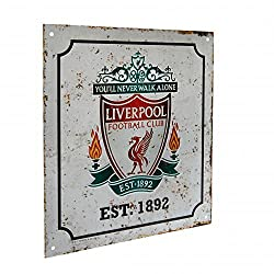 Official Liverpool FC Metal Retro Logo Sign