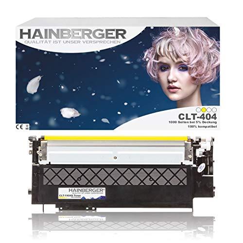 Hainberger XL Toner Yellow kompatibel zu Samsung CLT-404S Xpress C 430 W C 480 W C 480 FN C 480 FW CLT-K404S, CLT-C404S, CLT-M404S, CLT-Y404S