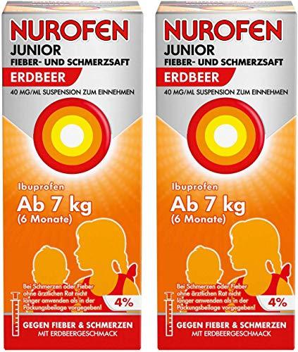 Nurofen Junior Fieber- und Schmerzsaft Erdbeer 40mg pro ml 2 x 100 ml
