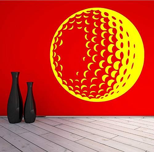 zwyluck 3D-golfballen, vinyl, wandschildering, woonkamerdecoratie, wandsticker, sportmotief, wandserie, 57 x 57 cm