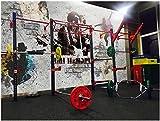 Fotomurali Muro di mattoni dei graffiti di musica rock 3D Stampato Fotomurale Carta da parati non tessuta Decorazioni per la casa Carta da parati Per tv sfondo muro 350x256 cm
