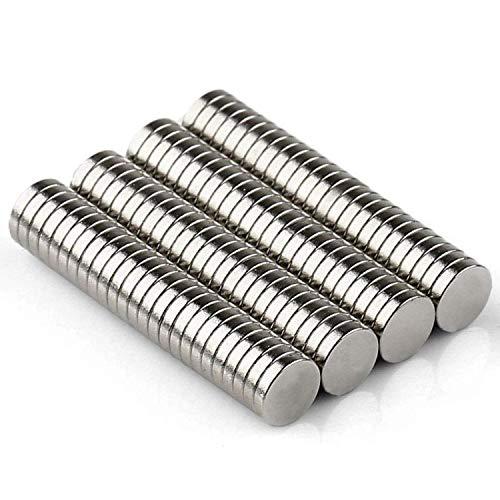 Neodym Magnete Klein 200 Stück Rund Magnets 5x1mm Starke Kühlschrankmagnete für DIY Craft Office Pinnwand, Whiteboard, Kühlschrank, Magnetboard