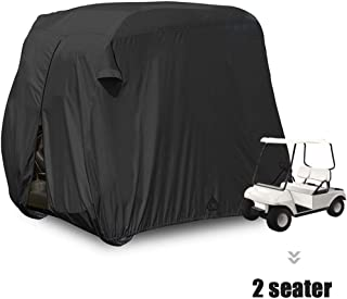 Upgrade 2 Passenger Outdoor Golf Cart Cover for EZ GO,Club Car, Yamaha, Movaland Custom Cart Cover with Extra PVC Coating Waterproof Dust Prevention