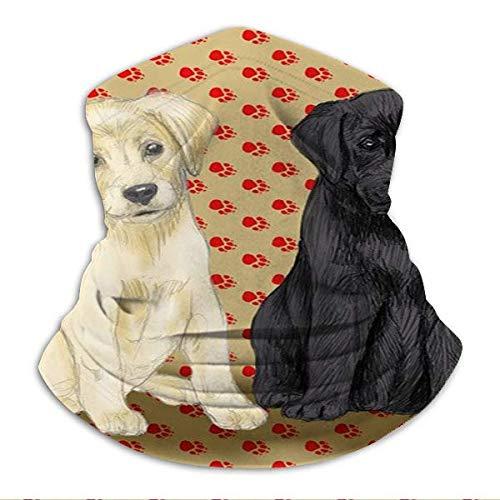 zhouyongz Sentado Labrador Retriever cachorros para almohada sin costuras, bufanda, bufanda, bufanda, diademas