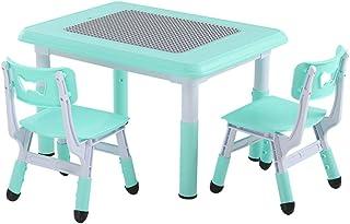LIANGJUN Juegos De Mesa Y Sillas for Niños 2 En 1 Muebles for Niños Escritorio De Aprendizaje Almacenamiento Juguete Levantamiento Jardín De Infancia, 3 Colores (Color : Blue, Size : C)