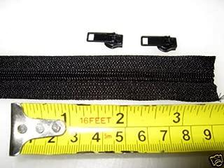 15 YARDS~ YKK Zipper Chain~ 4.5 Coil Chain~MADE IN USA~ BLACK plus 30 YKK Auto Pull sliders-ZipperStop Wholesale Authorized Distributor YKK®