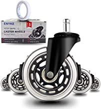 "Anyke 3"" Office Chair Caster Wheels Swivel Heavy-Duty Replacement Fit for Most Furniture Rollerblade Style Set of 5 (Stem ..."