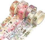 Yubbaex Washi Tape Set 6 Rotoli nastro adesivo colorato colorato decorativo per Forniture Artigianali Fai da te e Decorazioni