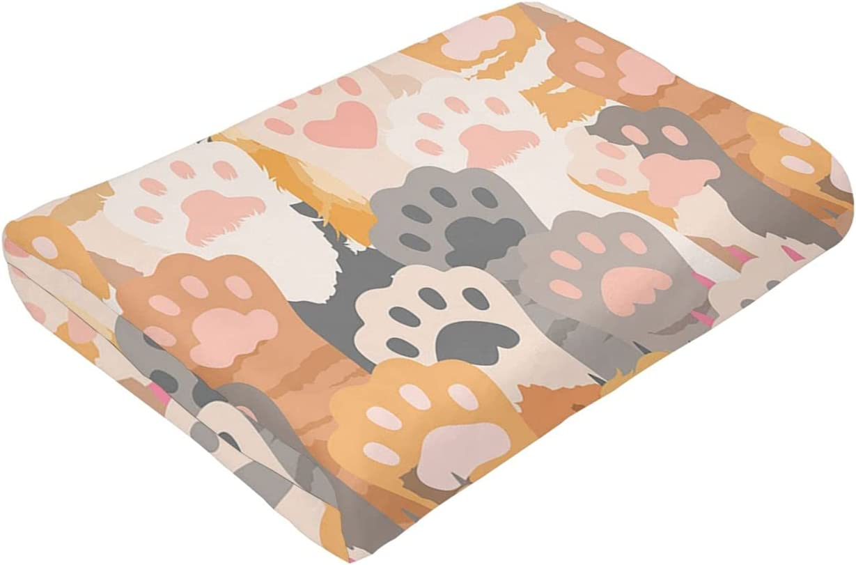 Kitten Foot Ultra-Soft Micro Fleece for Bed Suitable Blanket Or Max 85% At the price OFF