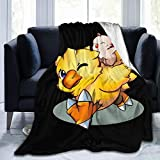 Final Fantasy Mog and Chocobo Ultra-Soft Micro Fleece Blanket for Bed Couch and Living Room Suitable for Fall Winter and Spring 60'x50'