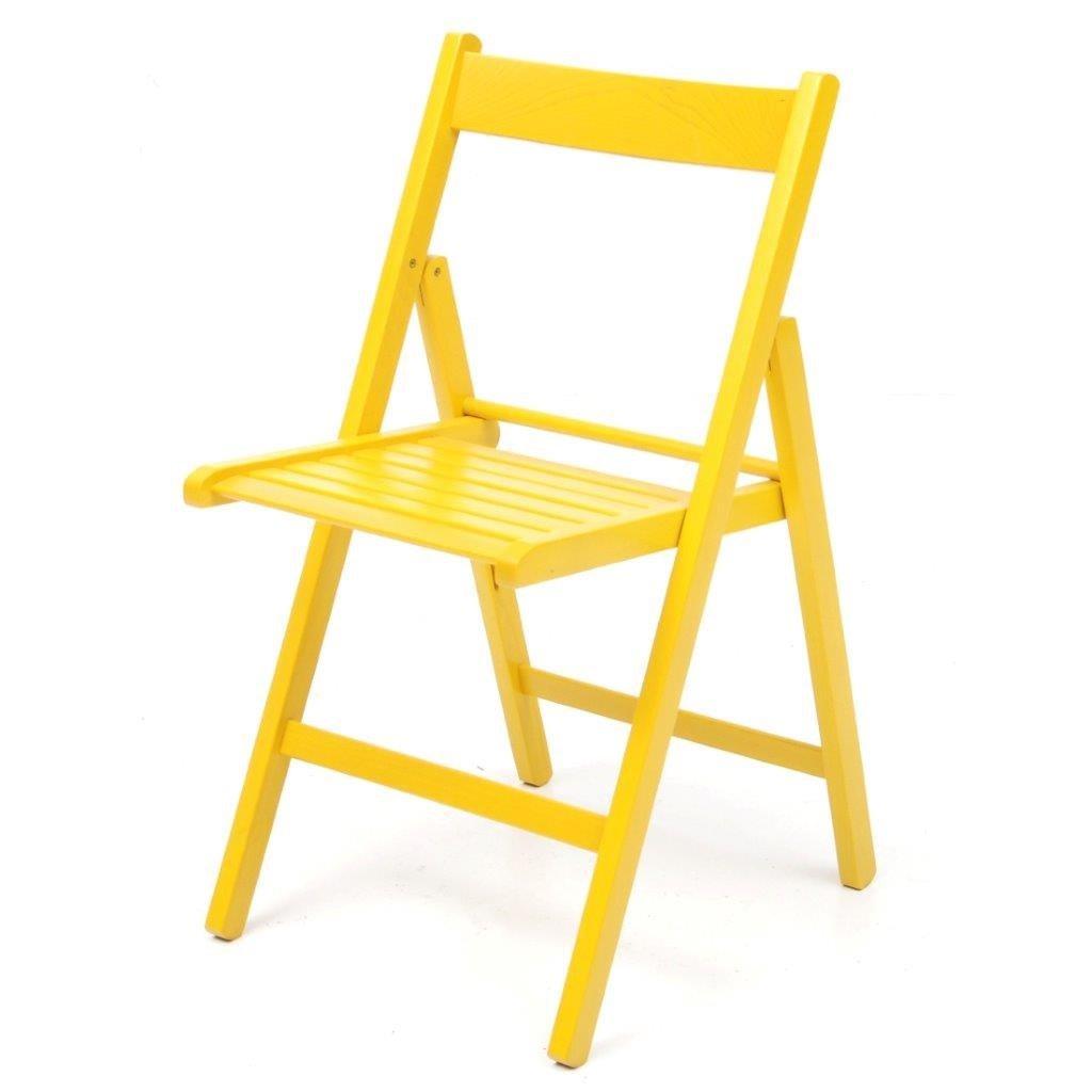 La Vetrina dei Desideri 4 sillas Plegables Amarilla: Amazon.es: Hogar