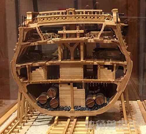 POTOLL Modellbausatz Schiff Wasserfahrzeug-Modellbausätze Model Schiff Vollrippenquerschnitt Birnenskala 1/48 Holzschiff Modellbausatz