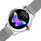 BNMY Smartwatch Mujer Reloj Inteligente Impermeable IP68 Pulsera De Actividad Inteligente con Monitor De Sueño Pulsómetro Podómetro Contador De Caloría para Android iOS,Plata