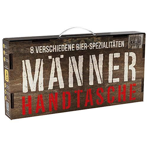 Kalea Männerhandtasche | Geschenk-Idee | Bier-Spezialitäten | mit Tragegriff | Geburtstags-Geschenk für Männer | Flaschenbiere von Privatbrauereien (8 x 0,33l)