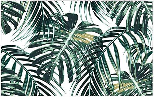 Fototapete - Fototapete - Vliestapete Muro XXL Poster Damast Living Room Background Wall Sticker Tropical Wald