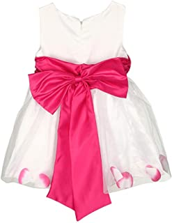 Yochyan 子供 キッズドレス 女の子 ガール 子供服 ノースリーブ ドレス コットン 可愛い キュート 花 フォーマルドレス お姫様 誕生日 結婚式 発表会 パーティードレス プリンセスドレス ワンピース おしゃれ ファッション