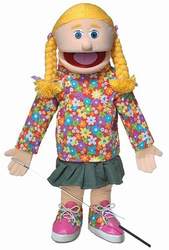 "25"" Cindy, Peach Girl, Full Body, Ventriloquist Style Puppet"