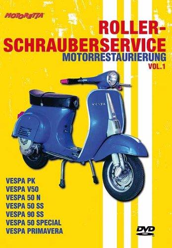 DVD- Motorrestaurierung 01. Roller-Schrauberservice . VESPA: PK, V50, 50N, 50 SS, 90 SS, 50 Special, Primavera