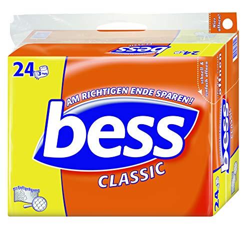 Bess Classic Toilettenpapier 3-lagig, Vorratspackung, 24 Rollen x 150 Blatt