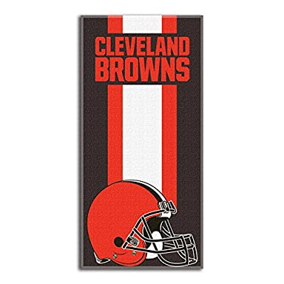 """Officially Licensed NFL Cleveland Browns """"Zone Read"""" Beach Towel, 30"""" x 60"""", Multi Color"""