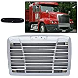 Chrome Front Bumper Hood Grill Grille With Bug Screen Replacement For Freightliner Century 2005+
