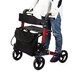 アシストウォーカー 歩行車 車椅子 ショッピングカー 歩行補助用品 室内室外兼用 ブレーキ駐車機能付 アルミ合金製 折り畳み可 日本語説明書付き