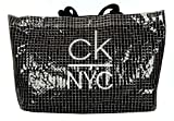 Calvin Klein Bolsa de Playa mar CK artículo K90KW00005 Snap Tote - cm.56x34x16, BEH Pvh Black, Unica - One Size