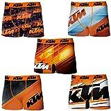 KTM T275-1 Boxer Microfibra (92% poliéster-8% Elastano) -Multicolor, Pack De 5 T275/1, XXL Hombres