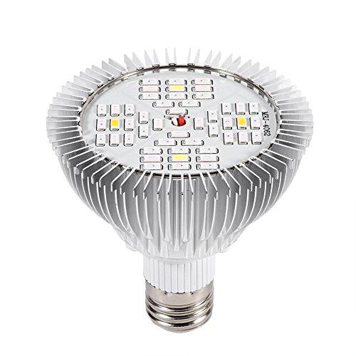 zcyg La planta crece la luz, la planta hidropónica de 48W LED E27 crece la luz del panel completo del espectro interior de la lámpara de crecimiento para el invernadero