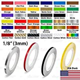 AutoXpress | 1/8' - 3mm Pinstriping Roll Styling Trim Detailing Pin Stripe DIY Self Adhesive Line Car Motorcycle Truck Bike Model Hobbies Vinyl Tape Decal Stickers (Red)