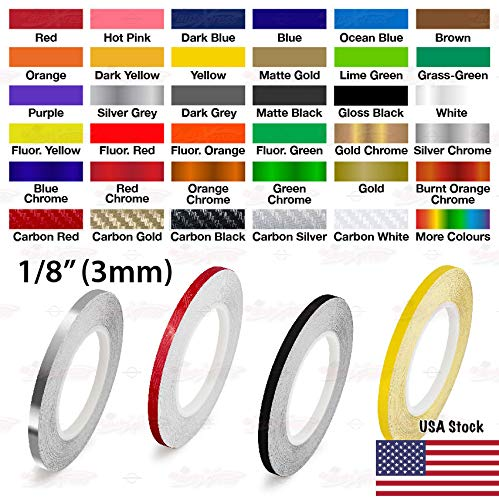 AutoXpress   1/8' - 3mm Pinstriping Roll Styling Trim Detailing Pin Stripe DIY Self Adhesive Line Car Motorcycle Truck Bike Model Hobbies Vinyl Tape Decal Stickers (Red)