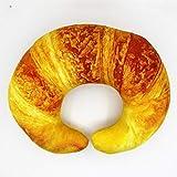 wwwl Plüschtier Lustige Croissant Brot Plüschtier U-förmige Nackenkissen Nap Decken Und Plaid...