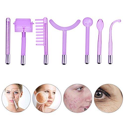 7 Pcs Hochfrequenz Gesichts Maschine Teile, tragbare Hochfrequenztherapie Haut, die Akne Stellen Falten Remover Schönheits Therapie festzieht