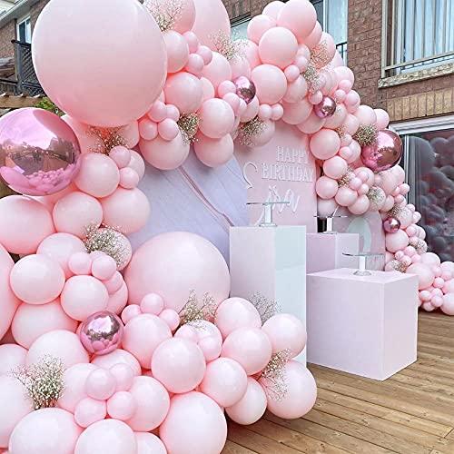 174pcs rosa Arco Para Globos , para fiesta de cumpleaños boda baby baby shower graduación decoraciones domésticas