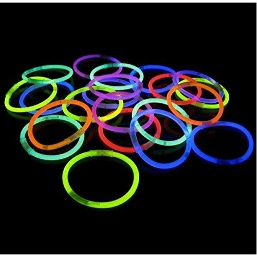 1000 Pulseras luminosas glow pack multicolor ENTREGA 1-3 D/ÍAS