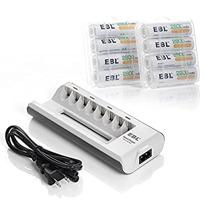 EBL® AA AAA Ni-MH Rechargeable Batteries / Batteries with Charger