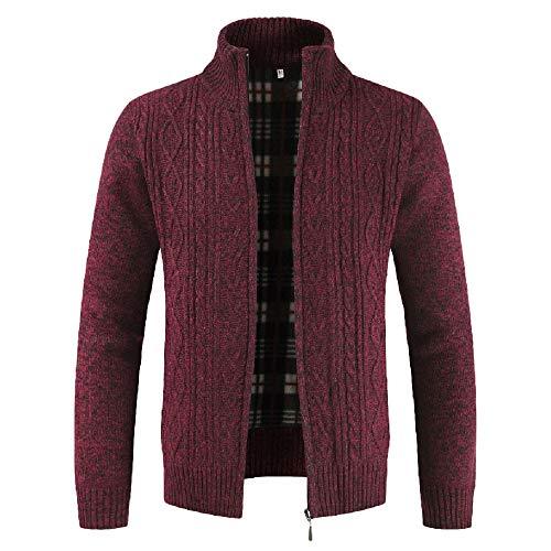 Zarupeng Mode Mannen Casual Zipper gebreide jas lange mouwen kraag mantel dunne effen gebreide jas sweatshirt