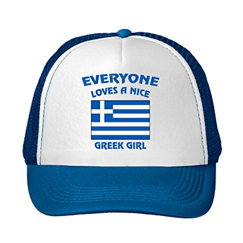Everyone Loves a Nice Girl Griego Grecia griegos Ajustable Gorro de Trucker Cap