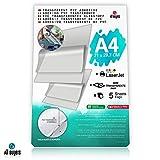 Carta Adesiva PVC Trasparente Lucida A4 Fogli in vinile Polipropilene 5-10-15-20-25 per st...