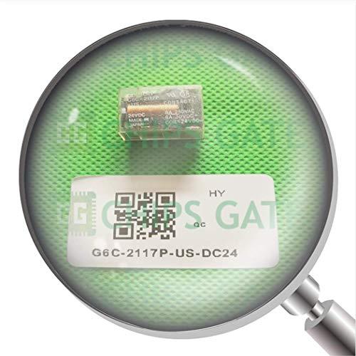 1 relé de alimentación G6C-2117P-Us 24Vdc G6C-2117P-US-DC24 8A 24Vdc 6 pines.