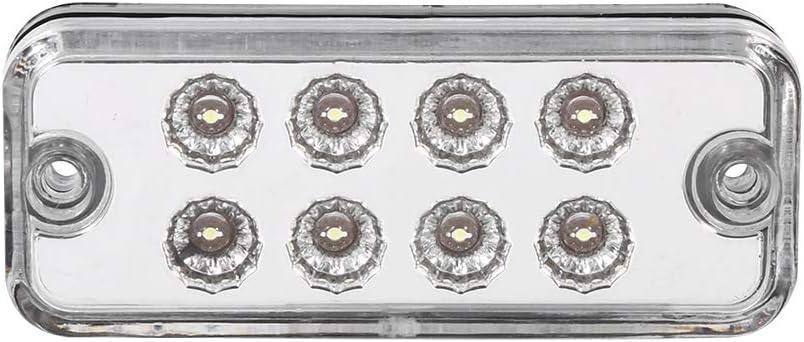 Amarillo L/ámpara de marcador lateral LED 6 piezas 8 LED Luz de marcador lateral de luz indicadora de luz Cami/ón de remolque de cami/ón