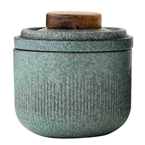 sahadsbv 1 Unidades de cerámica taza de té chino kung fu taza de té japonés taza de beber oriental sasaki vasos plato de lavado (verde Matcha)