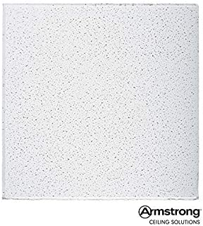 Armstrong Ceiling Tiles; 2x2 Ceiling Tiles – HUMIGUARD Plus Acoustic Ceilings for Suspended Ceiling Grid; Drop Ceiling Tiles Direct from The Manufacturer; FINE FISSURED Item 1732 – 16pc White Tegular