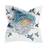 Bufanda cuadrada para damas con diseño de colibríes, atrapasueños, flores de diente de león, bufanda de cabeza y cuello, varios estilos de sensación de seda